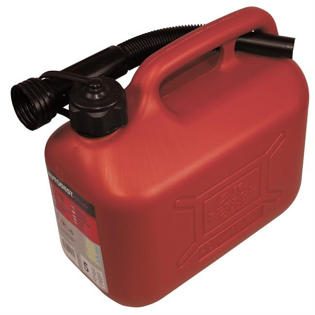 Jerrican Carburant En Plastique Rouge Autobest 5 L