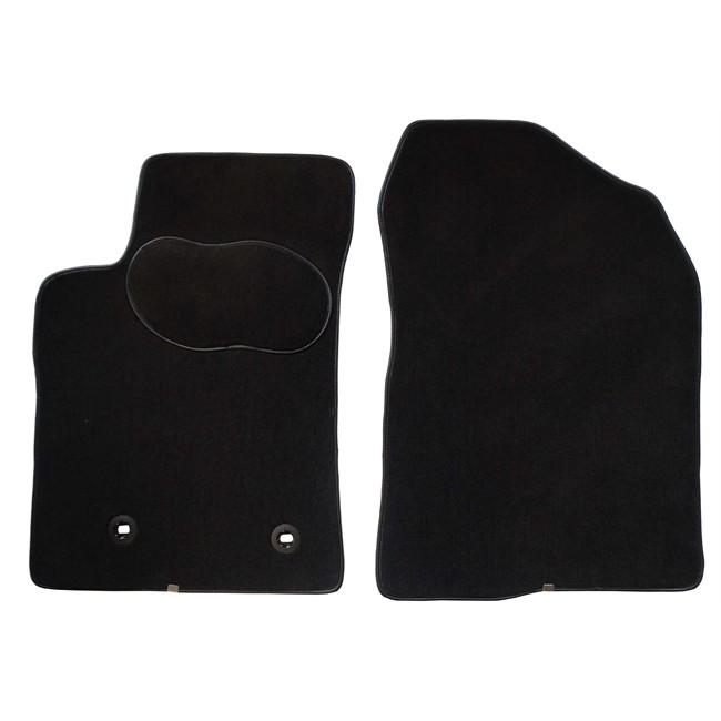 2 tapis voiture sur mesure gris anthracite en moquette norauto premium. Black Bedroom Furniture Sets. Home Design Ideas