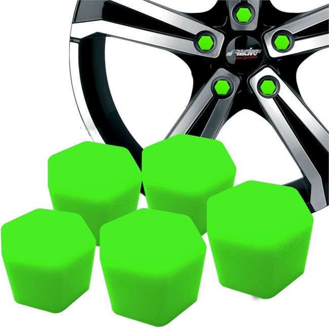 20 Couvres Boulons Silicone Vert Sracing Diamètre 17