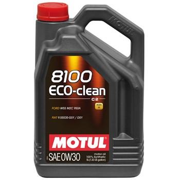 huile moteur motul 8100 eco clean c2 0w30 essence et diesel 5 l. Black Bedroom Furniture Sets. Home Design Ideas