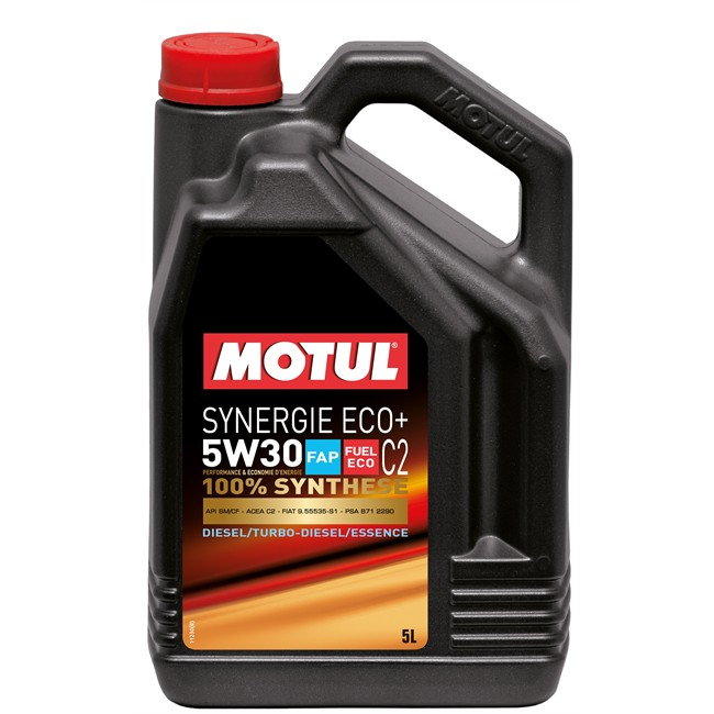 huile moteur motul synergie eco 5w30 essence et diesel 5 l. Black Bedroom Furniture Sets. Home Design Ideas
