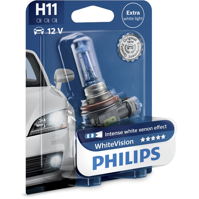 1 Ampoule Philips H11 Whitevision 55 W 12 V