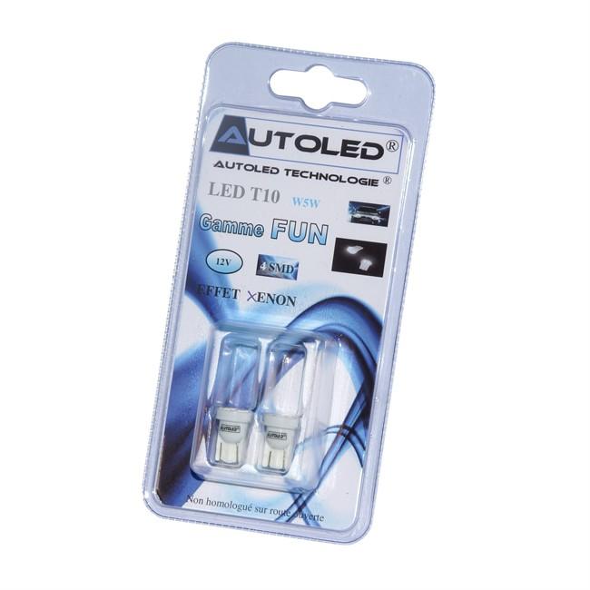 2 Ampoules Autoled T10 Blanc