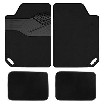 jeu complet de tapis voiture universels noirs moquette hvd easy shake. Black Bedroom Furniture Sets. Home Design Ideas