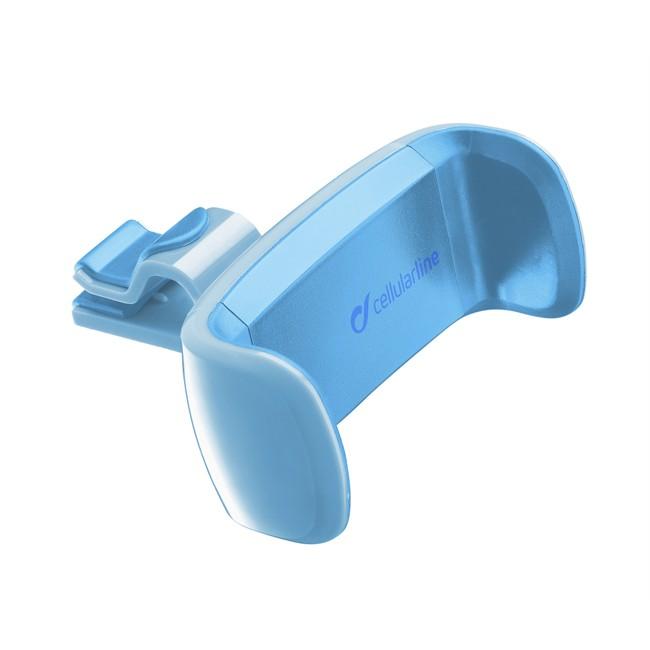 support de smartphone sur grille de ventilation cellular line bleu. Black Bedroom Furniture Sets. Home Design Ideas