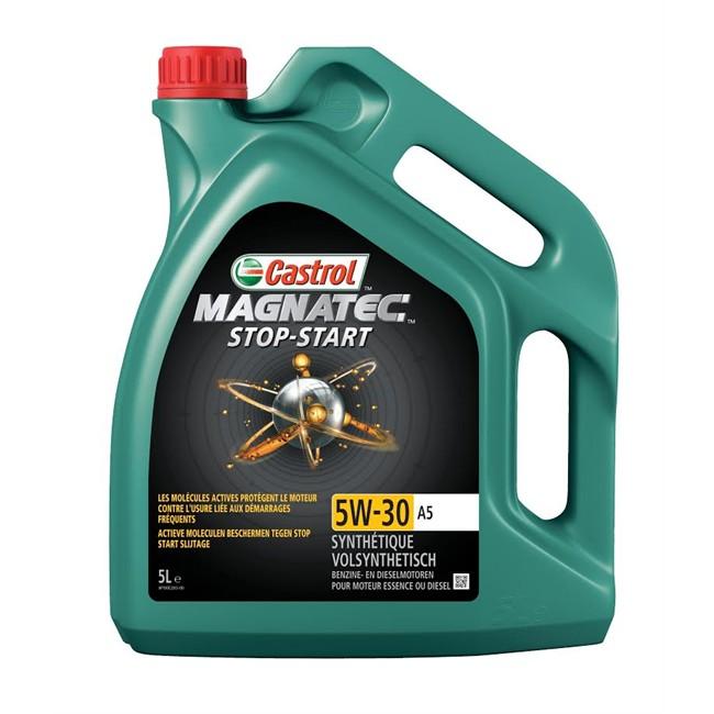 huile moteur castrol magnatec stop start a5 5w30 essence et diesel 5 l. Black Bedroom Furniture Sets. Home Design Ideas