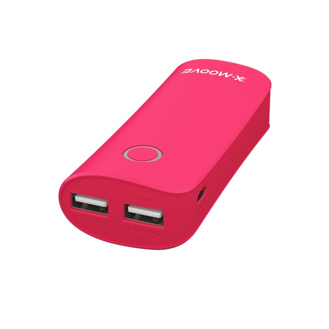 Batterie externe X-MOOVE Powergo Max Duo rouge 6 000 mAh ...