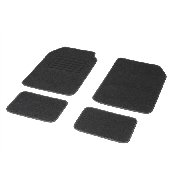 4 tapis voiture universels moquette dbs noirs. Black Bedroom Furniture Sets. Home Design Ideas