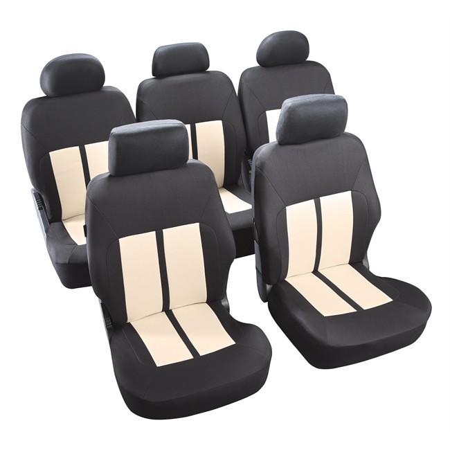jeu complet de housses universelles voiture norauto new york cru noires monospace. Black Bedroom Furniture Sets. Home Design Ideas