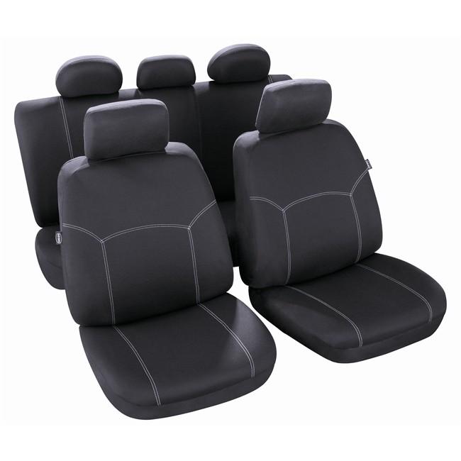 jeu complet de housses universelles voiture norauto phuket noires berline. Black Bedroom Furniture Sets. Home Design Ideas