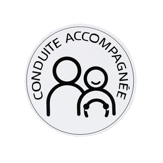 1 Disque Conduite Accompagnée Ø 15 Cm Adhésif
