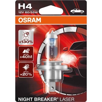 1 ampoule osram h4 night breaker unlimited laser 130. Black Bedroom Furniture Sets. Home Design Ideas