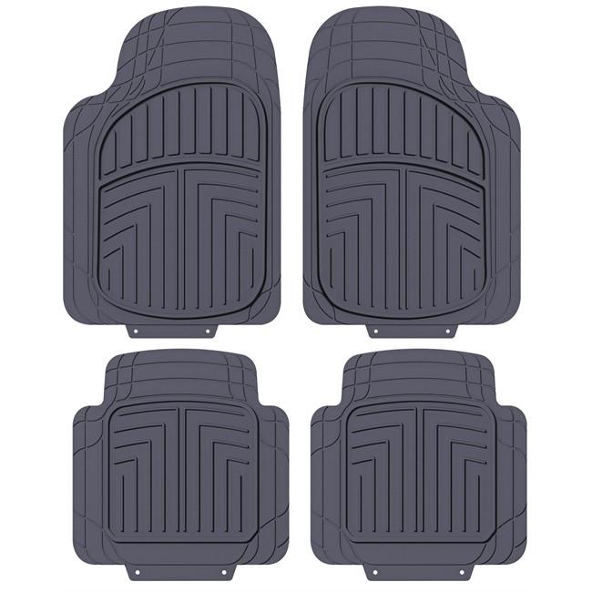 4 tapis de voiture universels en pvc norway noir. Black Bedroom Furniture Sets. Home Design Ideas