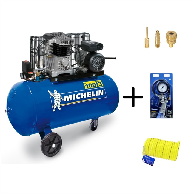 Compresseur Michelin Mb 100 + Accessoires Offert