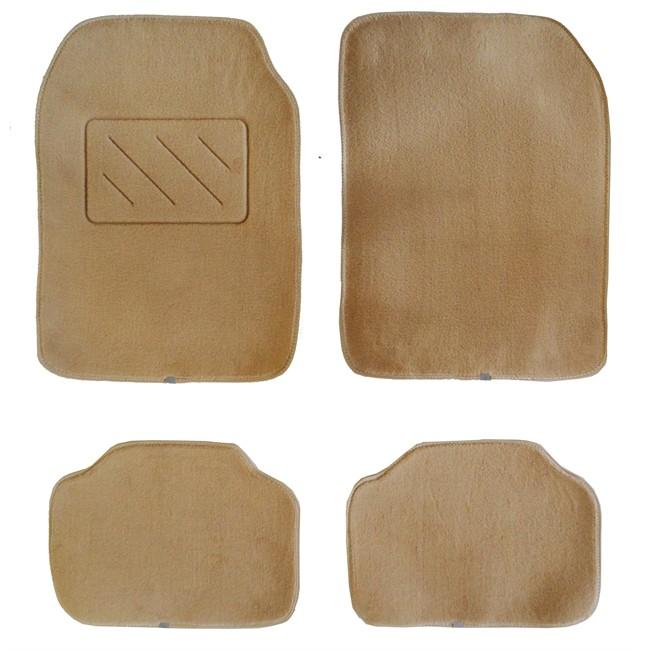 4 tapis de voiture universels moquette beiges for Moquette interieur voiture