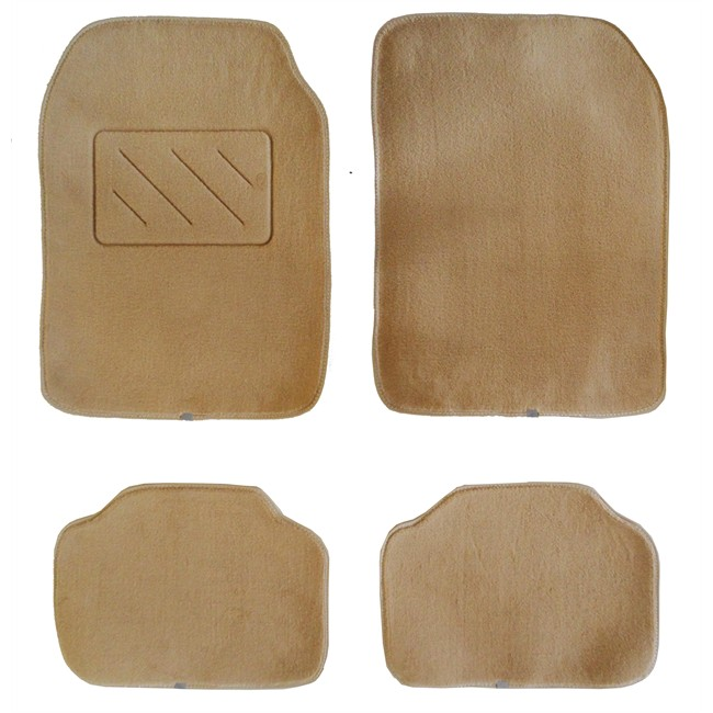 4 tapis de voiture universels moquette beiges. Black Bedroom Furniture Sets. Home Design Ideas
