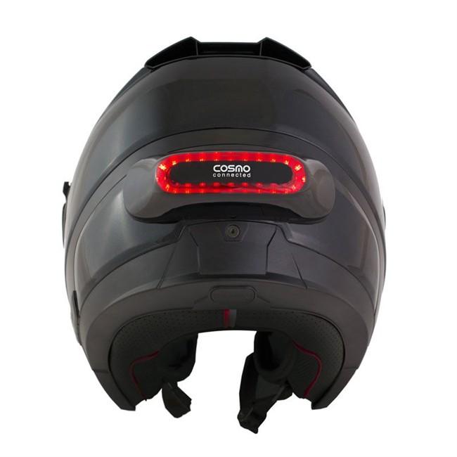 Feu De Freinage Moto Amovible Cosmo Connected Noir Brillant