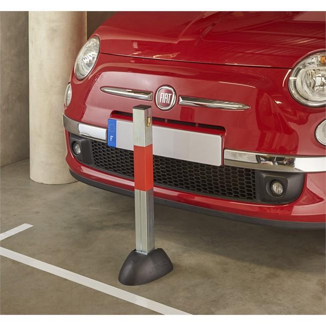 poteau de parking rabattable en acier 5 cm mottez b321p. Black Bedroom Furniture Sets. Home Design Ideas