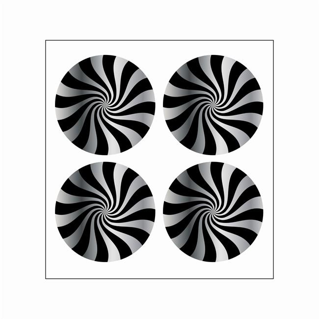 4 Stickers Autocollants Cache Moyeu Jante Cadox Style Vortex
