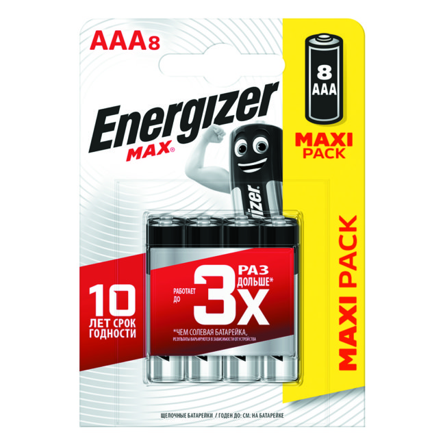 8 Piles Energizer Max Aaa/lr03