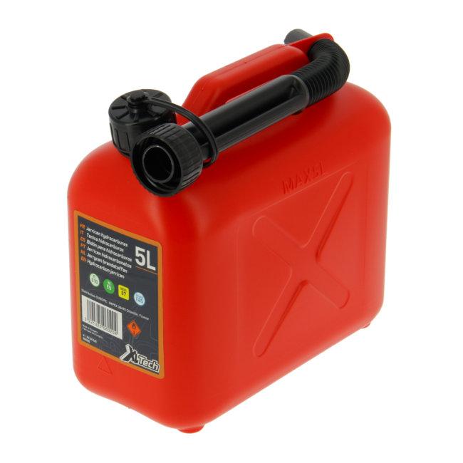 Jerrican Carburant En Plastique Rouge 5 L Xltech