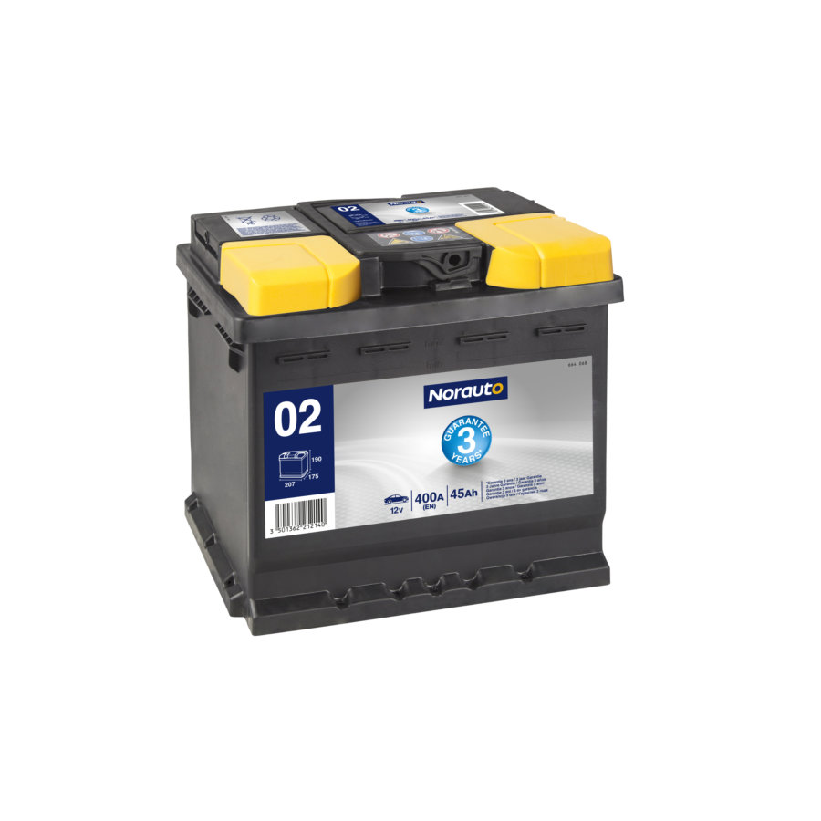 Batterie NORAUTO BV02 45Ah - 400 A