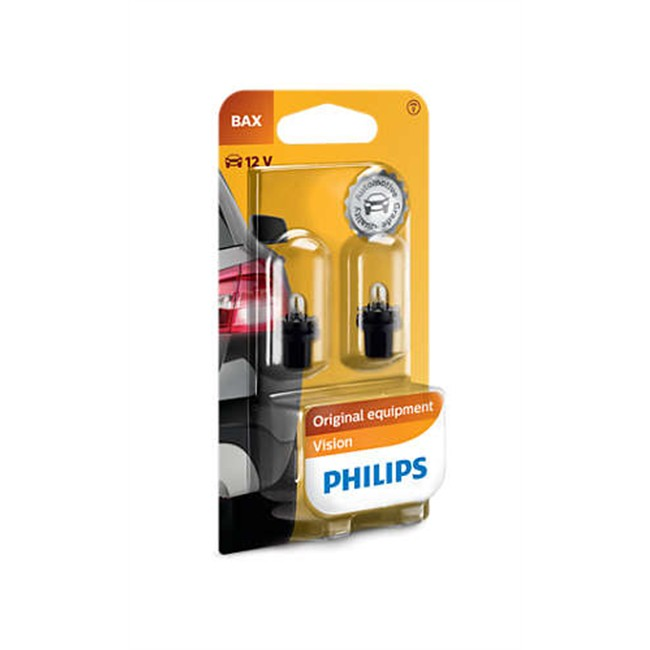 2 Ampoules Philips Bax 8.5d/2 1,2w 12 V