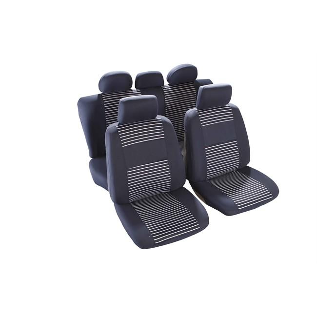 jeu complet de housses universelles voiture custo auto charente bleues. Black Bedroom Furniture Sets. Home Design Ideas