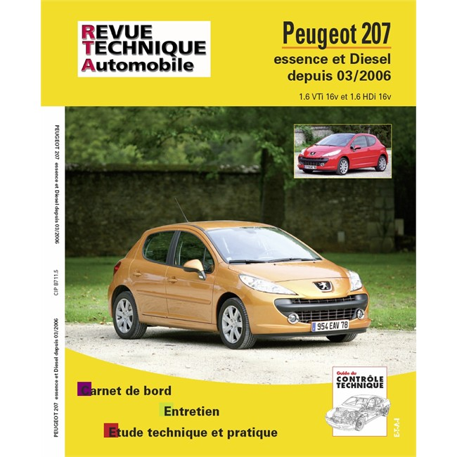 revue technique etai pour peugeot 207 essence et diesel partir de 2006. Black Bedroom Furniture Sets. Home Design Ideas