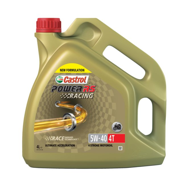 Huile 4t 2 Roues Castrol Power Rs Racing 5w40 4 L