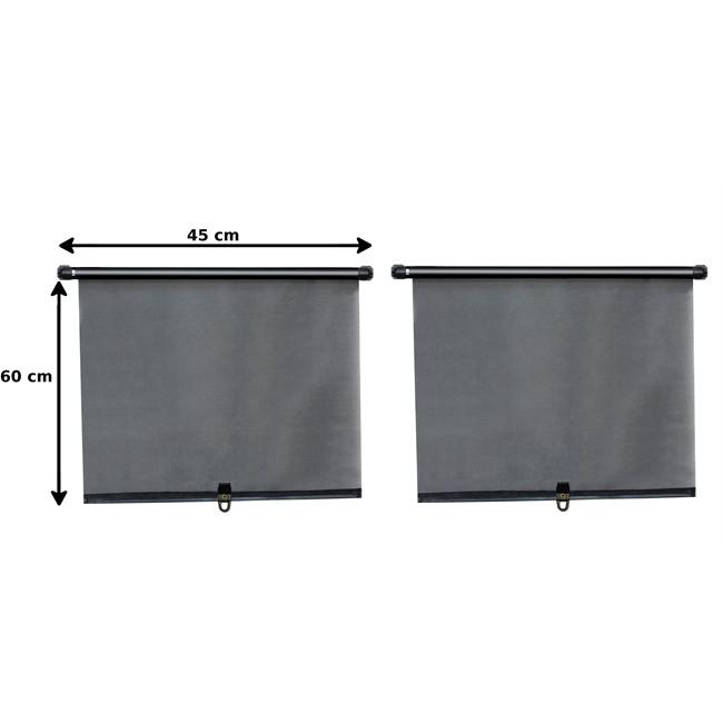 2 rideaux pare-soleil enrouleur latéraux NORAUTO 60 x 45 cm : Norauto.fr