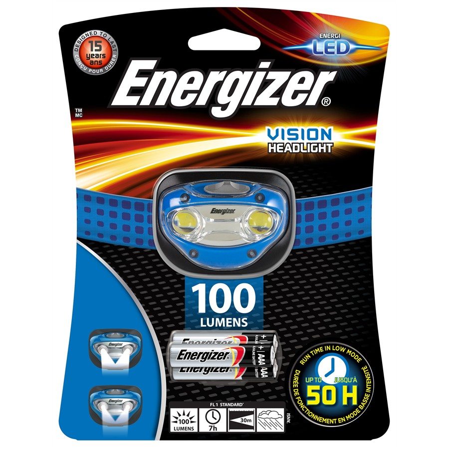 Lampe frontale 2 LED ENERGIZER