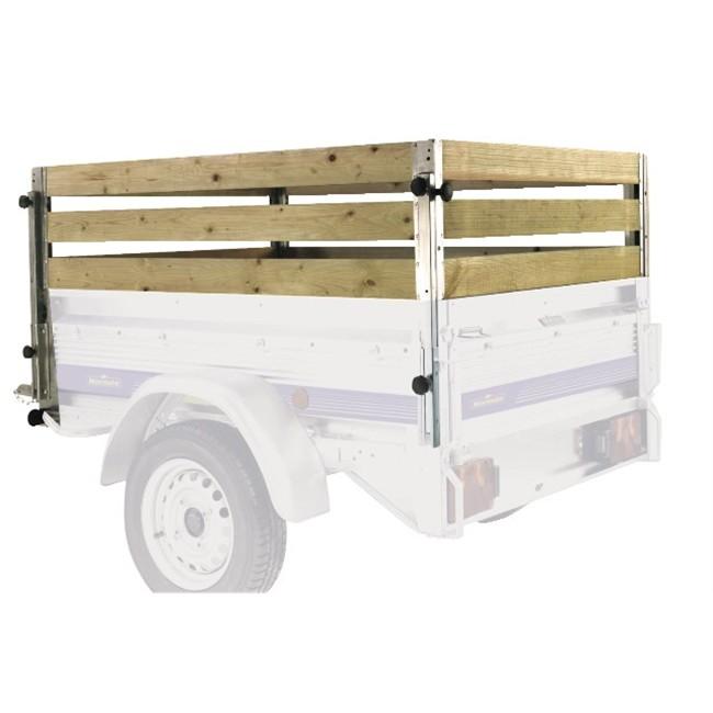 4 rehausses en bois pour remorque norauto premium 200 for Produit pour decaper le bois