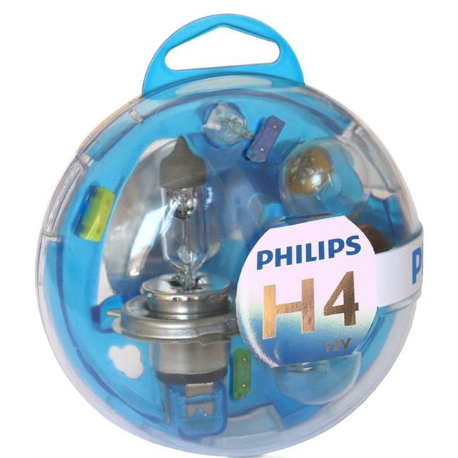 coffret ampoules h4 philips 5 ampoules. Black Bedroom Furniture Sets. Home Design Ideas