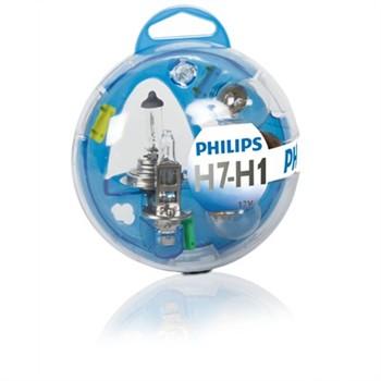 coffret ampoules h7 h1 philips 6 ampoules. Black Bedroom Furniture Sets. Home Design Ideas