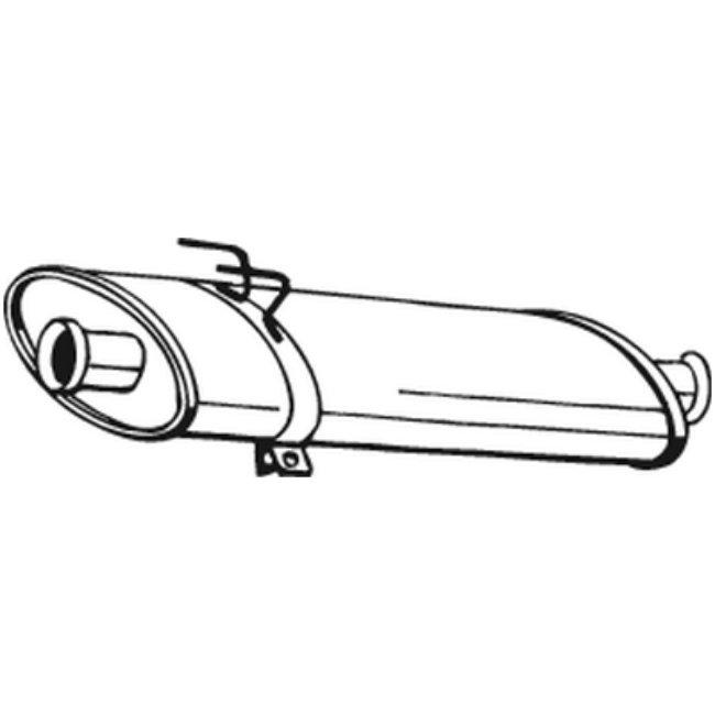 Silencieux Intermédiaire Bosal 200-269