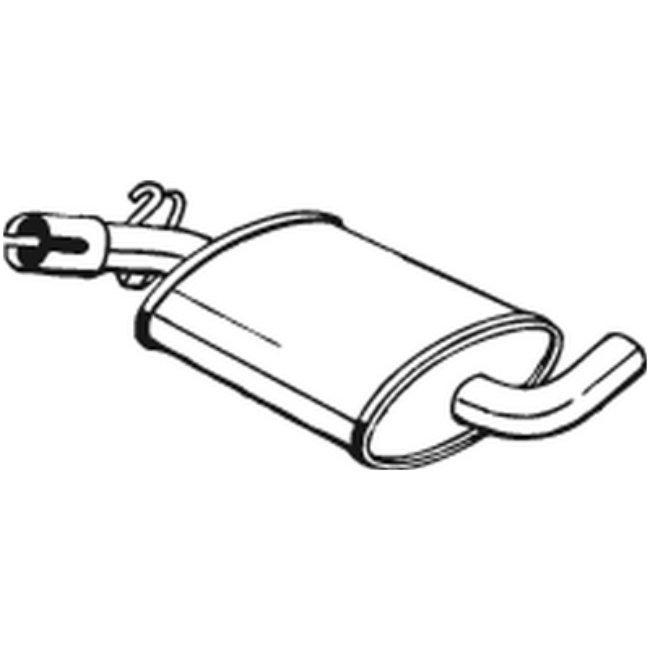 Silencieux Intermédiaire Bosal 233-407