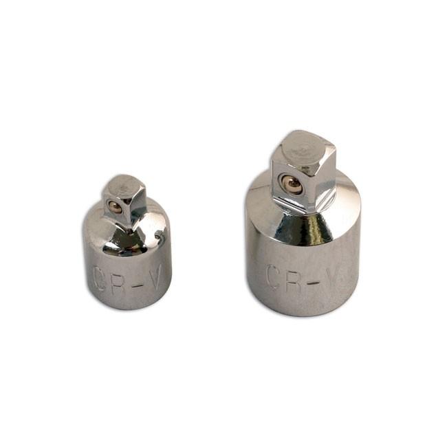 2 Adapateurs Carrés 1/2'', 1/4'' Et 3/8'' Laser 0102