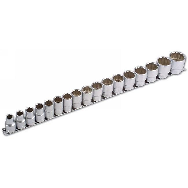 17 Douilles 12 Pans 10-30 Mm Carré 1/2'' Laser 5304