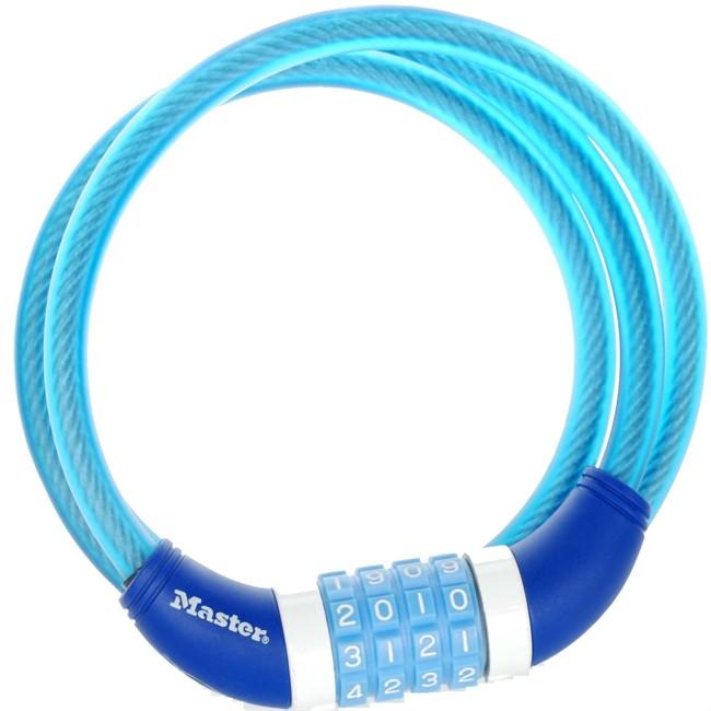 Câble Antivol À Combinaison Masterlock Bleu 120 Cm Pour Vélo