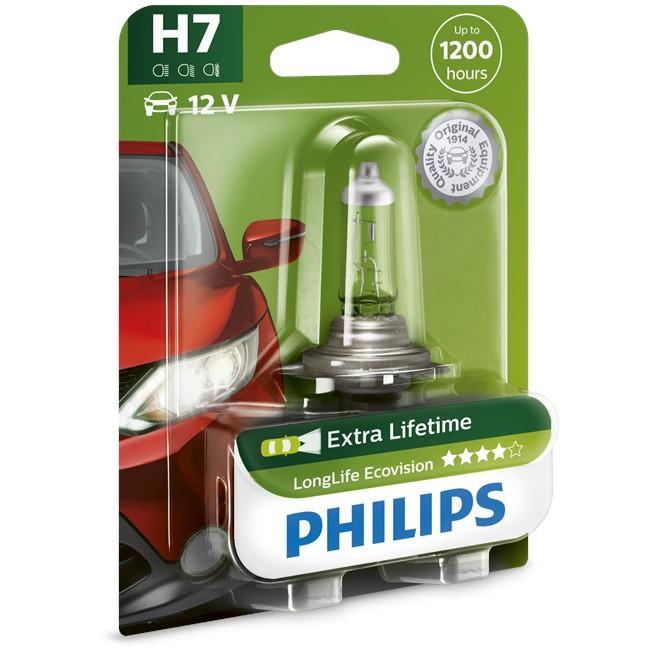 1 Ampoule Philips H7 Longlife Ecovision 55 W 12 V