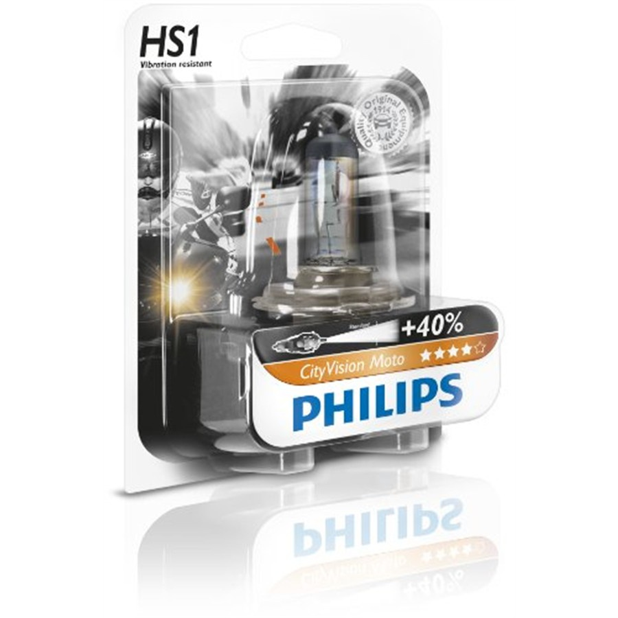 1 ampoule 2 roues Philips HS1 City Vision