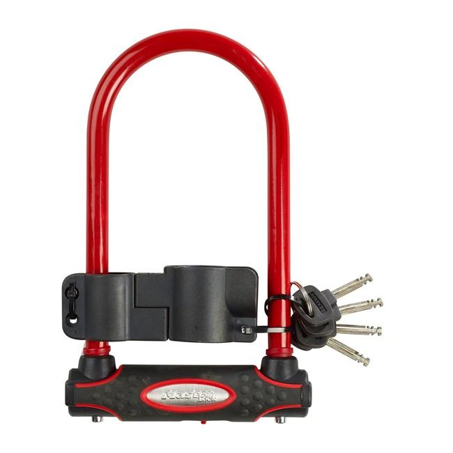 Antivol U Masterlock Rouge 11 X 21 Cm Pour Vélo
