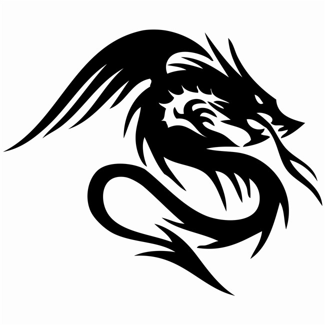 1 Sticker Autocollant Dragon Noir Norauto Fr