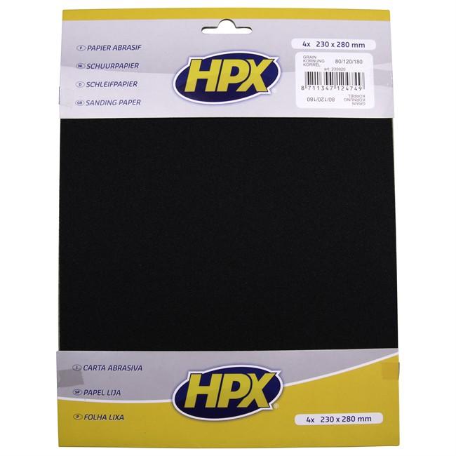 4 Feuilles De Papier Abrasif À Sec Hpx P80/p120/p180