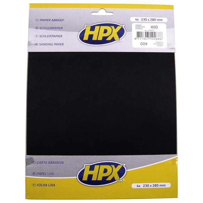 4 Feuilles De Papier Abrasif À L'eau Hpx P400