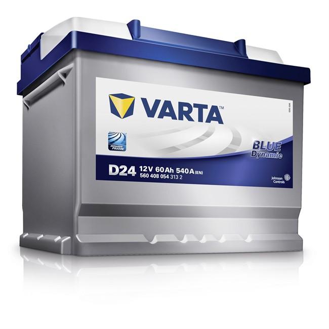 batterie varta d24 blue dynamic 60 ah 540 a. Black Bedroom Furniture Sets. Home Design Ideas