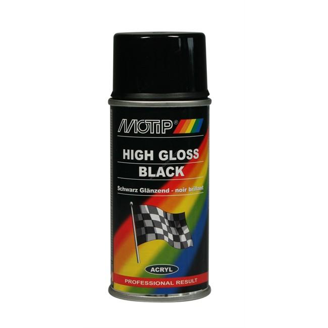 Bombe de peinture noir brillant motip m00105 150 ml - Peinture auto en bombe ...