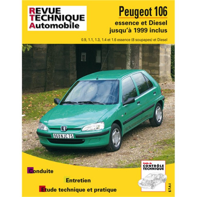 revue technique etai pour peugeot 106 essence et diesel jusque 1999. Black Bedroom Furniture Sets. Home Design Ideas