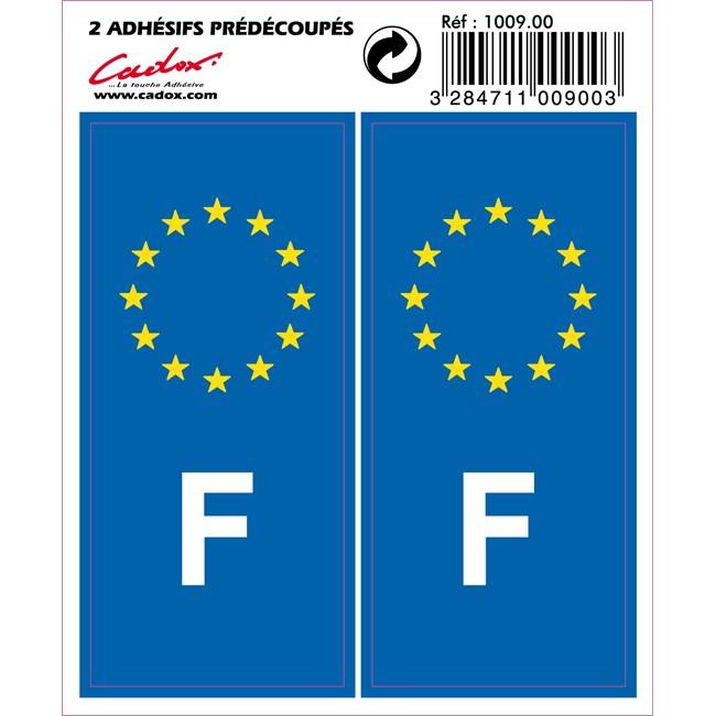 2 Autocollants France 10 X 4,5 Cm